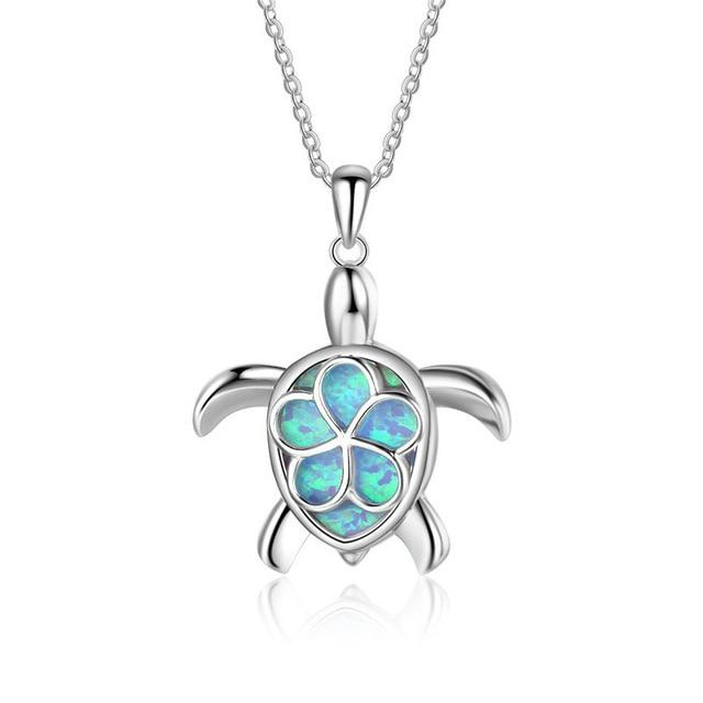 Sea Turtle Flower Shell Pendant