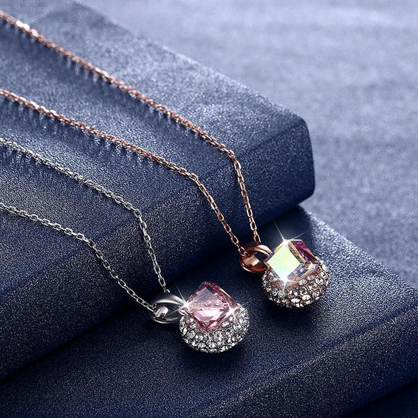 Crystal Coin Pendants