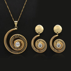 African Spiral Jewelry Set