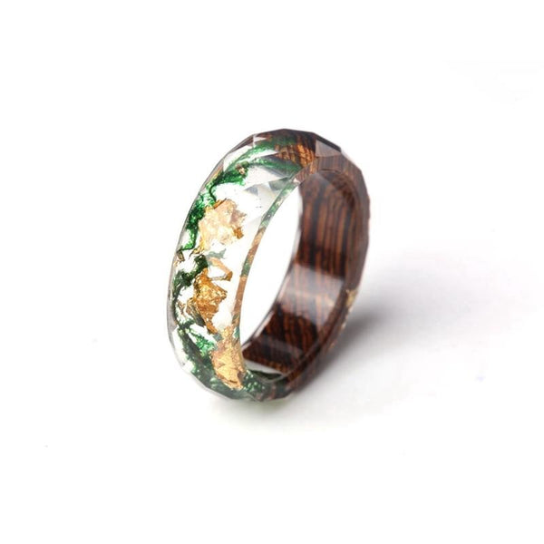 Gold Flake Nature Rings