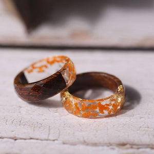 Orange Gold Rings