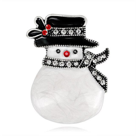 Cute Snowman Christmas Brooches