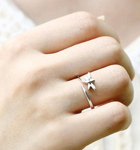 Exquisite Floating Dragonfly Ring