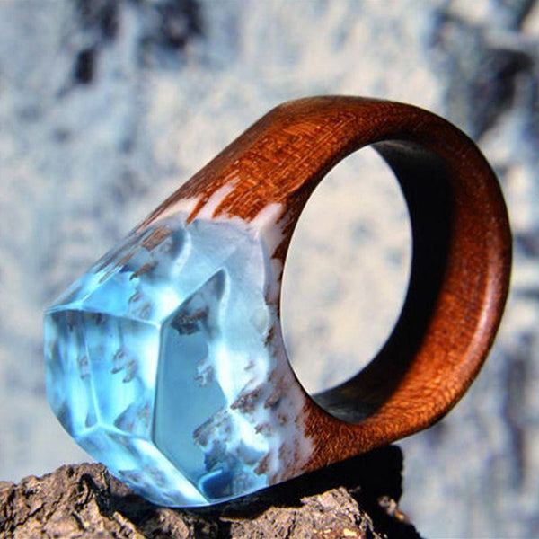 Snowy Mountain Top Rings