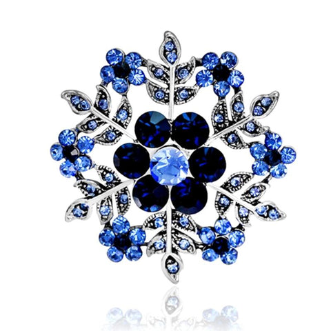 Luxury Snowflake Christmas Brooches