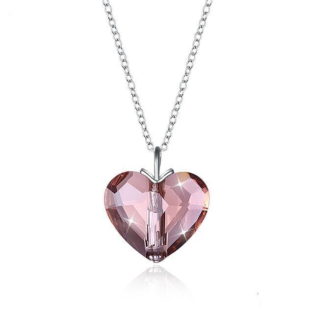 Romantic Red Crystal Heart Pendants