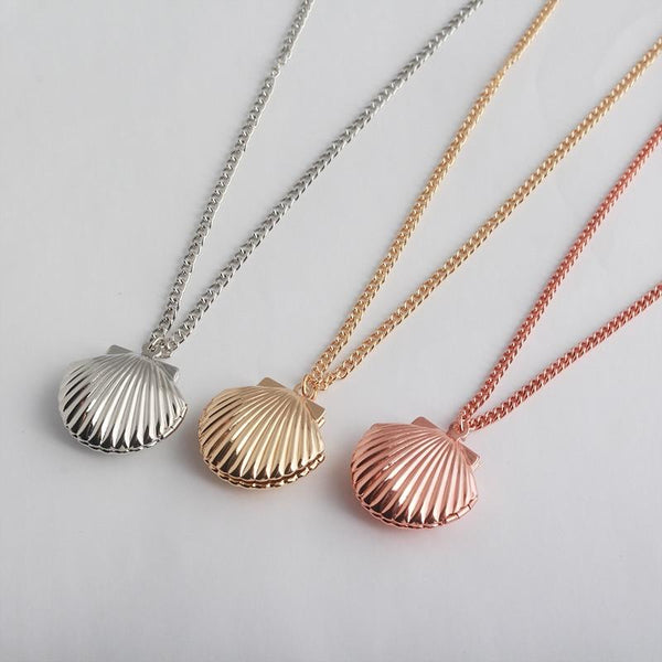 Shell Locket Pendants