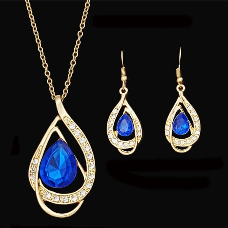 African Crystal Drop Jewelry Sets