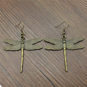 Antique Style Dragonfly Earrings
