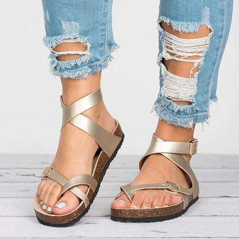 Cross Toe Boho Sandals