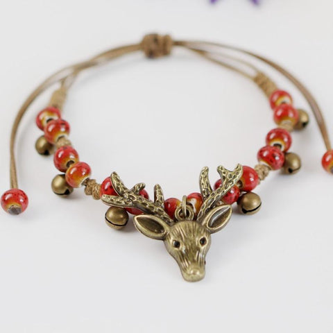 Cute Deer Head Charm Bracelets