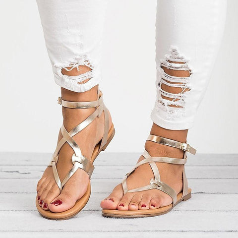 Beautiful Bandage Boho Sandals