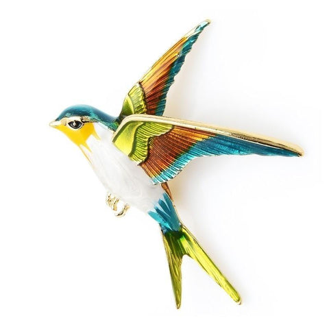 Flying Swallow Brooches