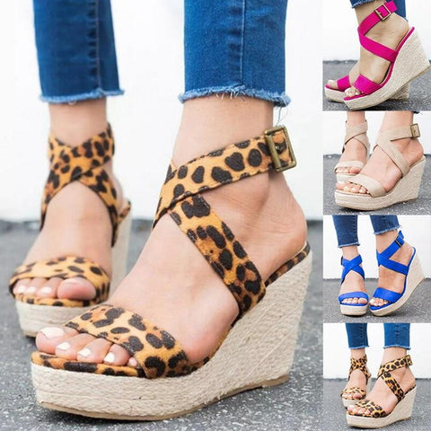 Criss Cross Summer Wedge Sandals