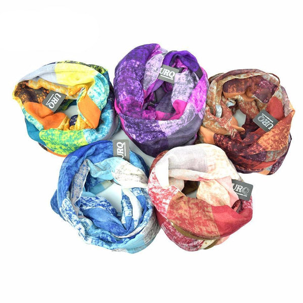 Multicoloured Loop Scarves