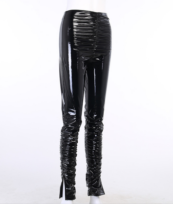 Lane Switch - PVC Ruched Pants