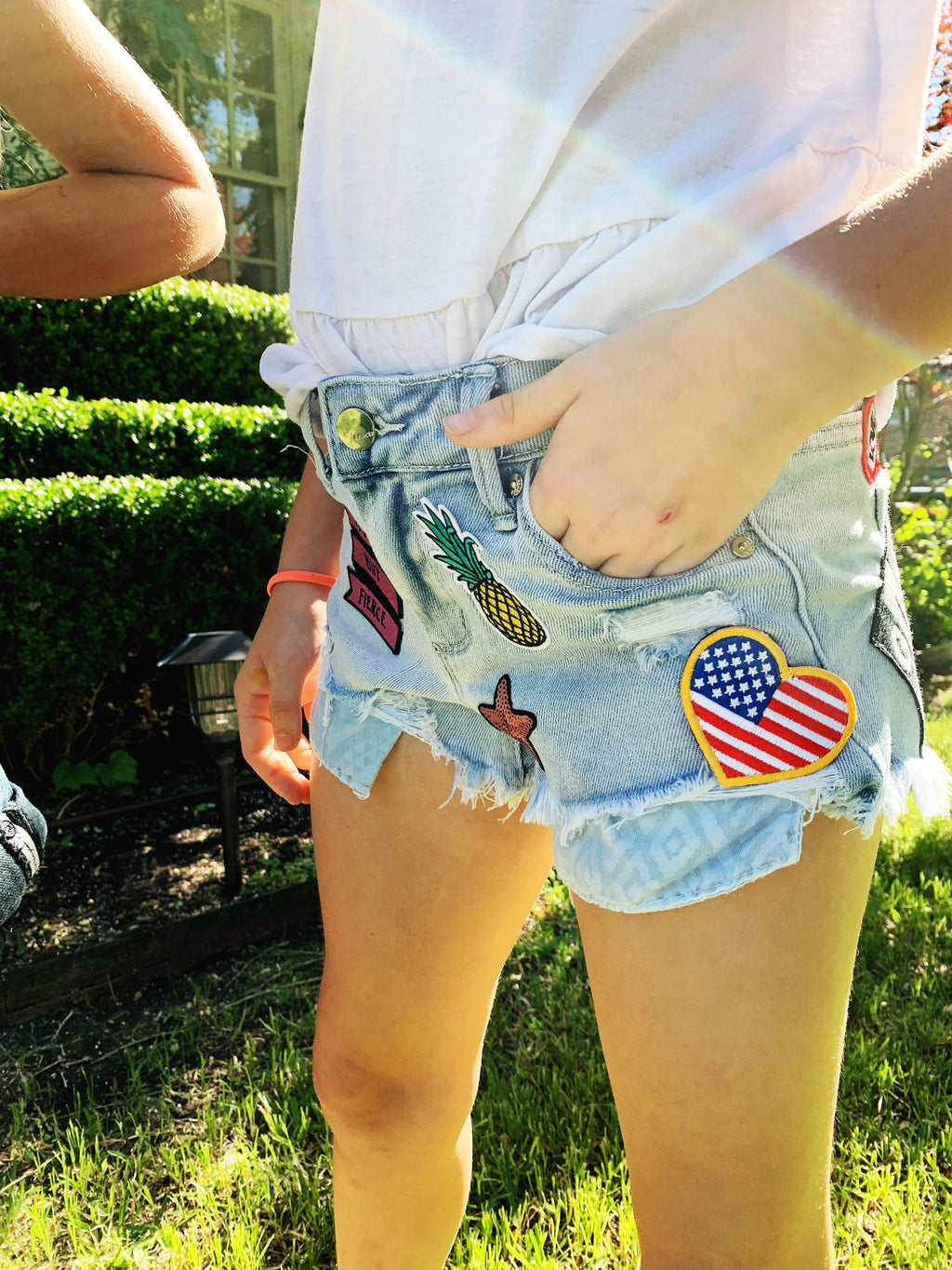 "DENIM SUMMERS SERIES: GIRLS, ""The Breezy Theme"" Denim Shorts"