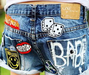 "DENIM SUMMERS SERIES: GIRLS, ""The Trailblazer Theme"" Denim Shorts"