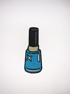 "PATCH BAR: Small ""Blue Nail Polish"" Patch"