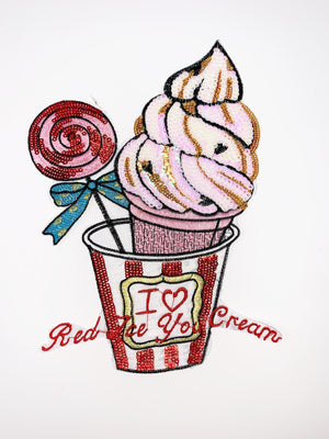 "PATCH BAR: XL ""I Love Red Ice Cream"" Patch"