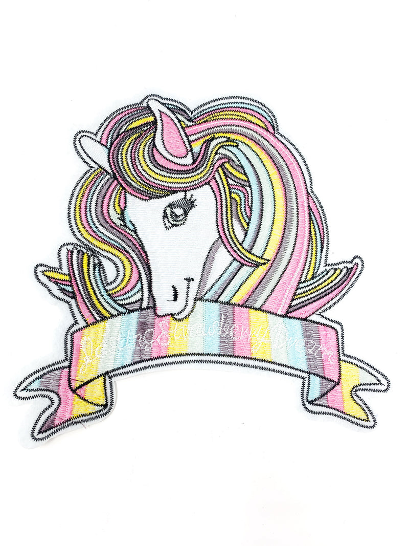 "PATCH BAR: XL ""Rainbow Unicorn"" with Banner Patch"