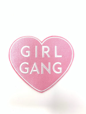 "PATCH BAR: Large ""Girl Gang"" Heart Patch"