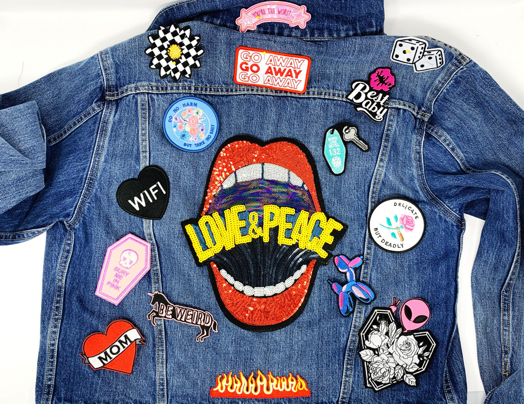 Women's Custom Patched Denim Jacket