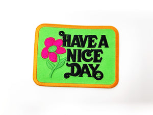 "PATCH BAR: Small ""Have A Nice Day"" Green Patch"