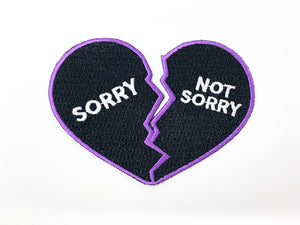 "PATCH BAR: Small ""Sorry, Not Sorry"" Patch"