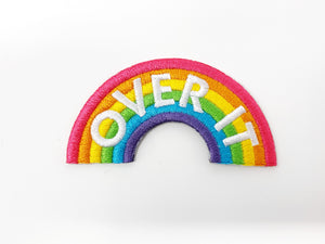 "PATCH BAR: Small ""Over It"" Rainbow Patch"