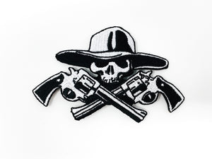 "PATCH BAR: Small ""Blazin Gun Slingin"" Skull Patch"