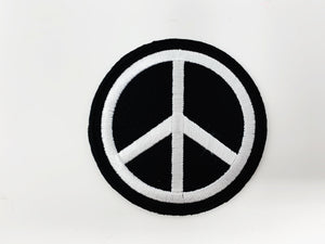 "PATCH BAR: Small ""Black & White Peace Sign"" Patch"