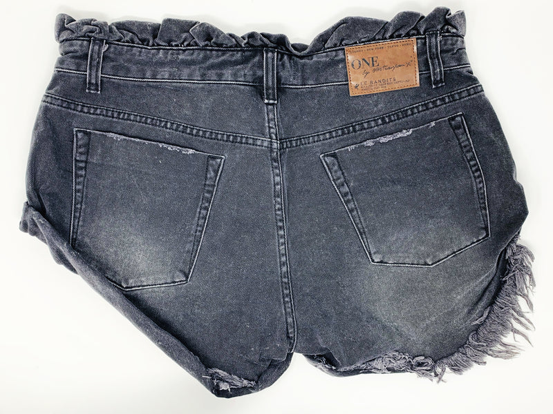 THE SCAVENGER COLLECTION: Women's One Teaspoon Le Bandits Denim Shorts Size 30
