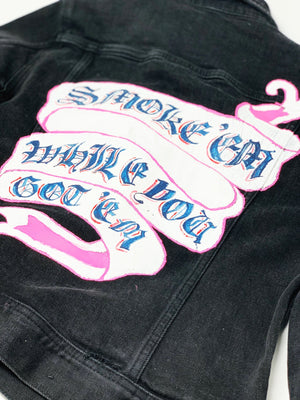 Womans Custom Painted and Patched Jacket
