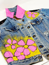 Kids Hand Painted Be You Floral Denim Jacket