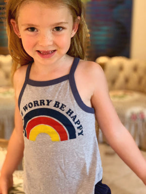 Girls DON'T WORRY RACERBACK TANK TOP