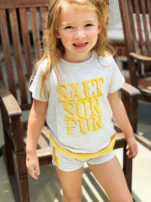 Girls SALT SUN FUN DOLPHIN SHORTS