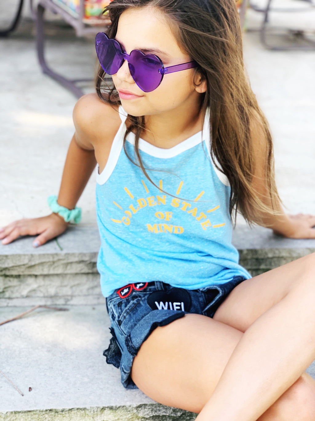 Girls GOLDEN STATE RACERBACK TANK TOP