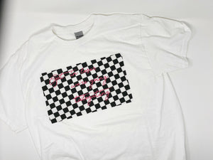 "Adults ""Get in Loser"" Checker Tee"
