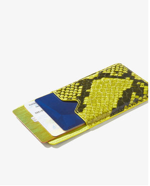 Sonix, Wallet Sticker - Neon Green Python
