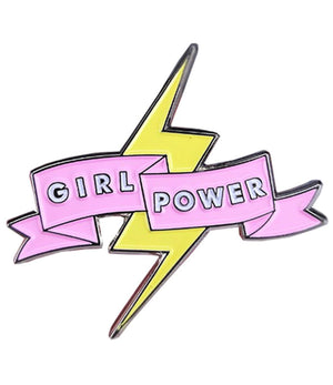Denim Flare: Girl Power Lightening Bolt Pin