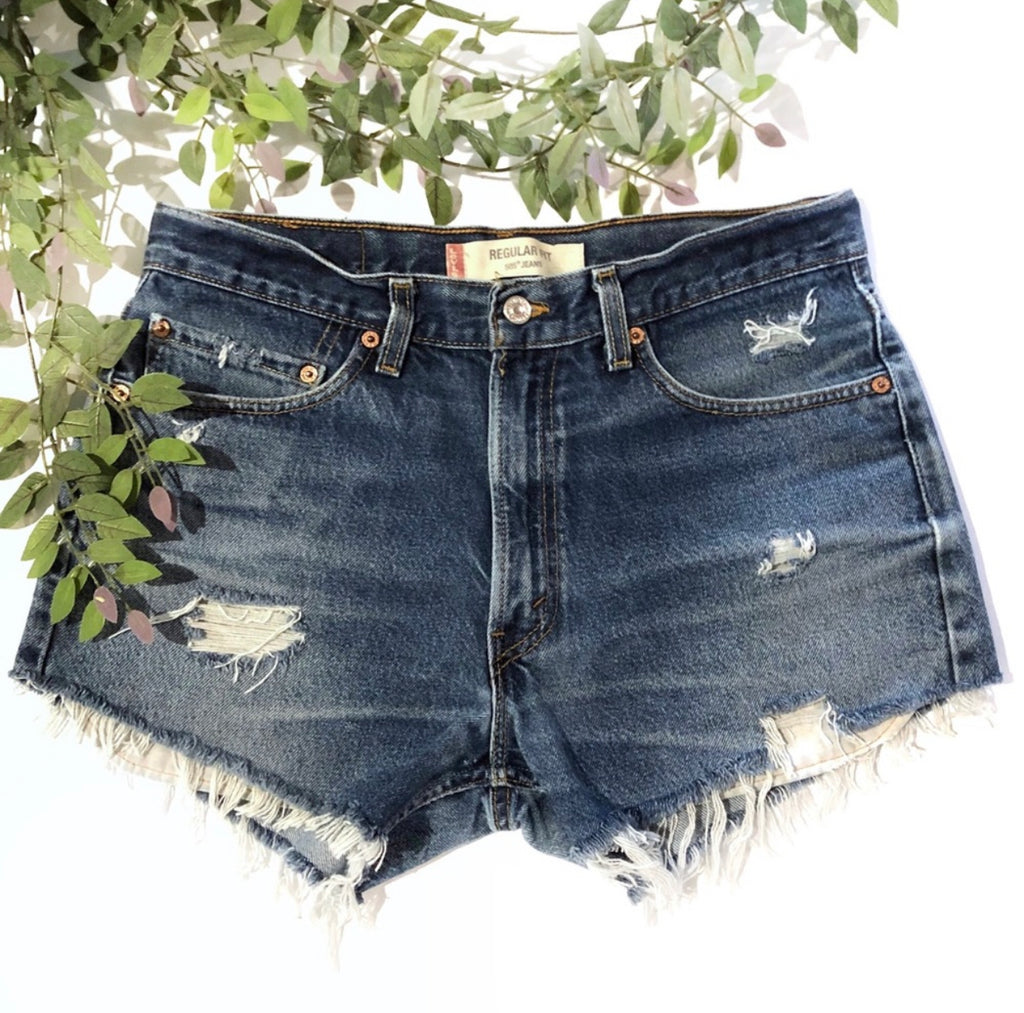 THE SCAVENGER COLLECTION: Women's Levi High Waist Denim Shorts - Size 33