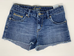 THE SCAVENGER COLLECTION:  Girls Levi Denim Shorts Size 10