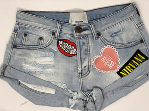 Women's Custom Patched with Paint Shorts