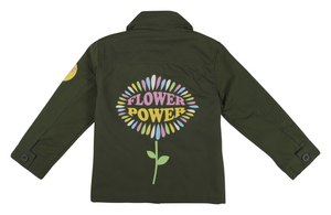 Girls FLOWER POWER MILITARY JACKET LIMITED EDITION .