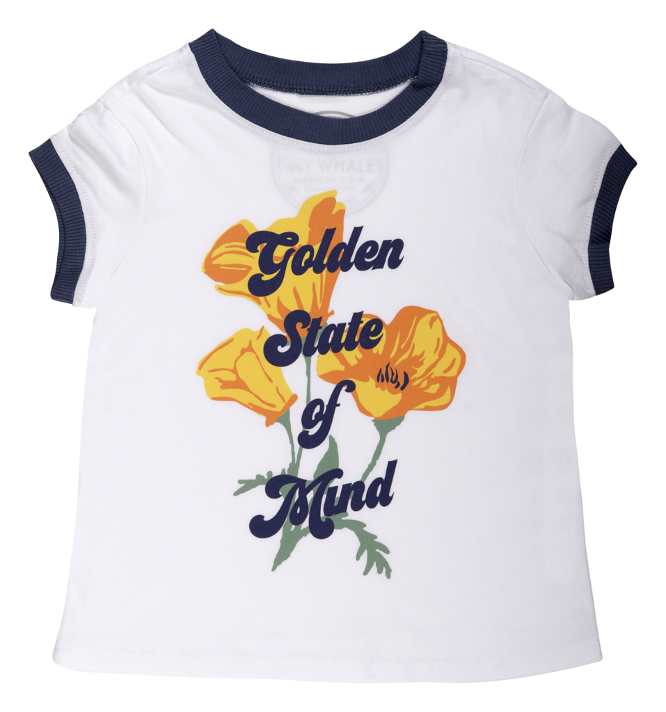 Girls GOLDEN STATE POPPIES BOXY RINGER TEE