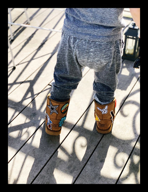 Kids Custom Patched Classic II UGG Boots