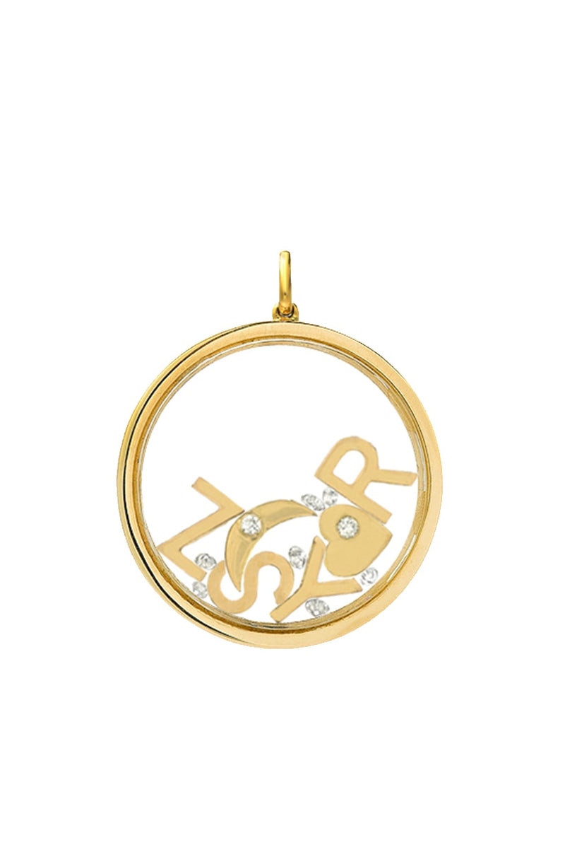 14K Gold Large Locket