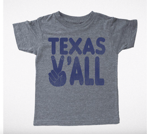 "Kids Tiny Whales ""Texas Ya'll"" Tee"