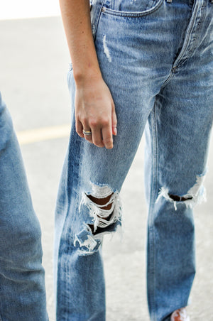 Women's Custom Patched Jeans